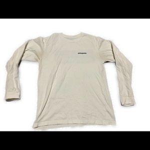 Patagonia Big Logo White Long-sleeve T-Shirt
